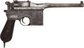 Handguns:Semiautomatic Pistol, Mauser Model 1896 Broomhandle Semi-Automatic Pistol....