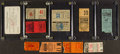 Baseball Collectibles:Tickets, Circa 1920's-40's New York Yankees, Cleveland Indians andPhiladelphia Athletics Ticket Stubs Lot of 10....