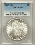 Morgan Dollars: , 1885-CC $1 MS66 PCGS. PCGS Population (991/53). NGC Census:(769/75). Mintage: 228,000. Numismedia Wsl. Price for problem f...