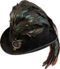 Militaria:Helmets, Austria: Austrian WWI Feathered Officer's Hat for a Kaiserjäger Battalion....