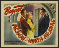 """Action in the North Atlantic (Warner Brothers, 1943). Lobby Card (11"""" X 14""""). War. Directed by Lloyd Bacon. St..."""