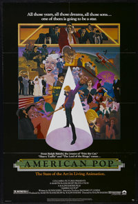 """American Pop (Columbia, 1981). One Sheet (27"""" X 41""""). Animation. Directed by Ralph Bakshi. Keywords: America..."""