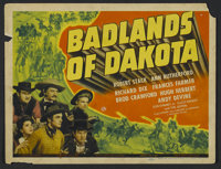 "Badlands of Dakota (Universal, 1941). Title Lobby Card (11"" X 14""). Western. Directed by Alfred E. Green. Star..."