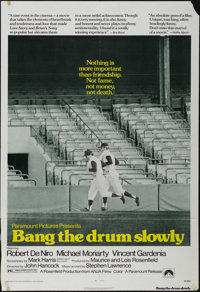 """Bang the Drum Slowly (Paramount, 1973). One Sheet (27"""" X 41""""). Drama. Directed by John Hitchcock. Starring Rob..."""