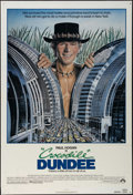"Movie Posters:Adventure, Crocodile Dundee (Paramount, 1986). One Sheet (27"" X 41"").Adventure Comedy. Directed by Peter Faiman. Starring Paul Hogan,..."