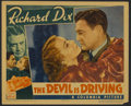 """Movie Posters:Drama, The Devil Is Driving (Columbia, 1937). Lobby Card (11"""" X 14""""). Crime Drama. Directed by Harry Lachman. Starring Richard Dix,..."""
