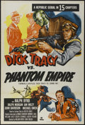 """Movie Posters:Serial, Dick Tracy vs the Phantom Empire (Republic, R-1952). One Sheet (27"""" X 41"""") Tri-folded. Crime. Directed by John English and W..."""