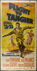 "Movie Posters:Drama, Flight to Tangier (Paramount, 1953). Three Sheet (41"" X 81""). Drama. Directed by Charles Marquis Warren. Starring Joan Fonta..."