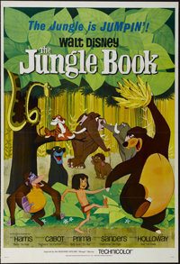 """The Jungle Book (Buena Vista, 1967). One Sheet (27"""" X 41"""") Tri-folded. Family. Directed by Wolfgang Reitherman..."""