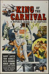 "King of the Carnival (Republic, 1955). One Sheet (27"" X 41"").Serial. Directed by Franklin Adreon. Starring Kei..."