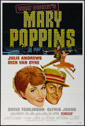 "Movie Posters:Fantasy, Mary Poppins (Buena Vista, R-1980). One Sheet (27"" X 41""). Musical Comedy. Directed by Robert Stevenson. Starring Julie Andr..."