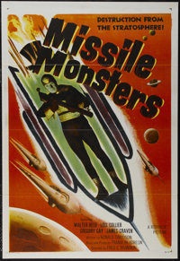 """Missile Monsters (Republic, 1958). One Sheet (27"""" X 41""""). Science Fiction. Directed by Fred C. Brannon. Starri..."""