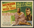 """Movie Posters:Mystery, Murder in the Music Hall (Republic, 1946). Title Lobby Card (11"""" X14""""). Mystery. Directed by John English. Starring Vera Hr..."""