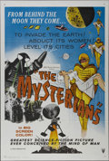 "Movie Posters:Science Fiction, The Mysterians (RKO, 1959). One Sheet (27"" X 41""). Science Fiction.Directed by Ishiro Honda. Starring Kenji Sahara, Yumi Sh..."