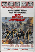 "Movie Posters:War, The Secret Invasion (United Artists, 1964). One Sheet (27"" X 41""). Action. Directed by Roger Corman. Starring Stewart Grange..."