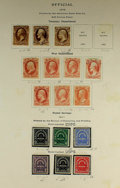 Stamps: , U.S. Officials, 1873 Issues Nearly Complete