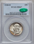 Washington Quarters, 1948-D 25C MS67 PCGS. CAC....