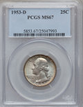 Washington Quarters, 1953-D 25C MS67 PCGS....