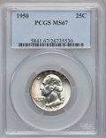 Washington Quarters, 1950 25C MS67 PCGS....