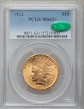Indian Eagles, 1912 $10 MS63+ PCGS. CAC....
