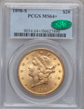 Liberty Double Eagles, 1898-S $20 MS64+ PCGS. CAC....
