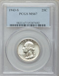 Washington Quarters, 1943-S 25C MS67 PCGS....