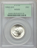Washington Quarters, 1950-S/D 25C MS65 PCGS. FS-601....