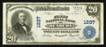 National Bank Notes:Pennsylvania, Sunbury, PA - $20 1902 Plain Back Fr. 650 The First NB Ch. # 1237....