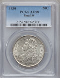 Bust Half Dollars: , 1830 50C Small 0 AU58 PCGS. PCGS Population (218/313). NGC Census:(398/455). Mintage: 4,764,800. Numismedia Wsl. Price for...