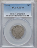 Liberty Nickels: , 1885 5C AG3 PCGS. PCGS Population (143/953). NGC Census: (0/530).Mintage: 1,476,490. ...