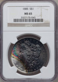 Morgan Dollars: , 1885 $1 MS65 NGC. NGC Census: (9881/1901). PCGS Population(7983/1396). Mintage: 17,787,768. Numismedia Wsl. Price for prob...