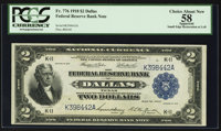 Fr. 776 $2 1918 Federal Reserve Bank Note PCGS Apparent Choice About New 58