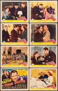 """Movie Posters:Mystery, Crime Doctor (Columbia, 1943). Lobby Card Set of 8 (11"""" X 14"""").Mystery.. ... (Total: 8 Items)"""
