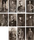 Military & Patriotic:WWI, Group of 11 Real Photo Postcards of WWI German Aviators and Pourle Merite Winners.... (Total: 11 Items)