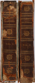 Books:Non-fiction, Samuel Richardson. The History of Sir Charles Grandison, and the Honorable Miss Byron. London: Harrison, [n. d.]. La... (Total: 2 Items)