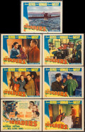 """Movie Posters:War, The Invaders (Columbia, 1941). Title Lobby Card & Lobby Cards(6) (11"""" X 14""""). War.. ... (Total: 7 Items)"""