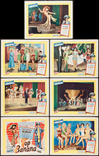 """Top Banana (United Artists, 1954). Title Lobby Card and Lobby Cards (6) (11"""" X 14""""). Comedy. ... (Total: 7 Ite..."""
