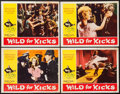 "Movie Posters:Exploitation, Wild for Kicks (Victoria Films, 1962). Lobby Card Set of 4 (11"" X14""). UK original title Beat Girl. Exploitation.. ...(Total: 4 Items)"