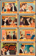"""Movie Posters:Comedy, But the Flesh is Weak (MGM, 1932). Lobby Card Set of 8 (11"""" X 14"""").Comedy.. ... (Total: 8 Items)"""