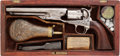 Handguns:Single Action Revolver, Rare Factory-Cased Colt M1860 Fluted Cylinder .44 Caliber Percussion Revolver,...