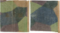 Military & Patriotic:WWI, [Paul Strähle Halberstadt Collection] Two Large Sections of WWIGerman Halberstadt CL. IV Lozenge Camouflage Fabric.... (Total: 2Items)