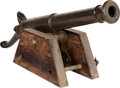Military & Patriotic:Foreign Wars, French Mid-19th Century Percussion Line Throwing Cannon Manufactured by Chabry, 1854....