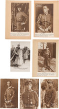 Military & Patriotic:WWI, Group of 7 Sanke Real Photo Postcards of WWI German Aviators....(Total: 7 Items)