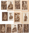 Military & Patriotic:WWI, Group of 13 Sanke Real Photo Postcards of WWI German Aviators....(Total: 13 Items)
