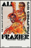"""Movie Posters:Sports, Ali vs. Frazier, The """"Thrilla in Manila"""" (Don King Productions, 1975). Closed Circuit Showing Window Card (14"""" X 22""""). Sport..."""