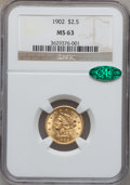 Liberty Quarter Eagles: , 1902 $2 1/2 MS63 NGC. CAC. NGC Census: (688/1249). PCGS Population(897/1224). Mintage: 133,500. Numismedia Wsl. Price for ...