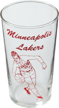 Basketball Collectibles:Others, 1950's George Mikan Glass....