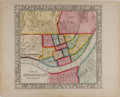 """Books:Maps & Atlases, 19th Century Hand-Colored """"Plan of Cincinnati and Vicinity"""". 15.25"""" x 12.25"""". Copyright 1860 by August Mitchell, Pennsylvani..."""