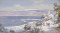 Fine Art - Work on Paper, CHARLES ROWBOTHAM (British, 1841-1943). The Harbour of Messinawith the Shore of Calabria in the Distance, 1901. Waterco...