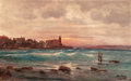 19th Century European, CHARLES MALFROY (French, 1862-1951). View of the Coast ofFrance, 1900. Oil on canvas. 28-1/2 x 45-1/2 inches (72.4 x11...